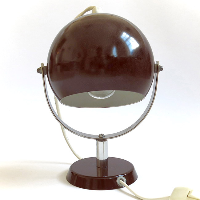 Vintage Danish U-stand bubble lamp brown 60s/70s
