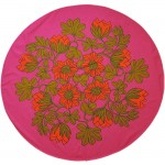 Oval 60s/70s tablecloth huge vibrant flowers
