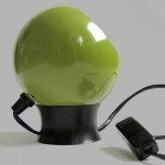 Lime/avocado green bubble lamp vintage Danish 60s/70s