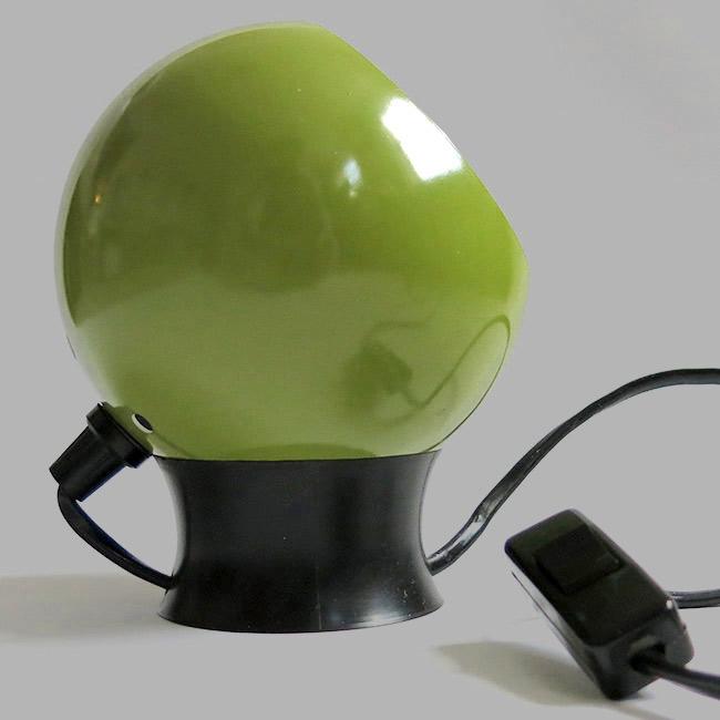 Lime Avocado Green Bubble Lamp Vintage Danish 60s 70s