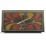 Psychedelic clock General Electric vintage 60s