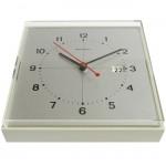 Brushed aluminium vintage Remington wall clock 70s
