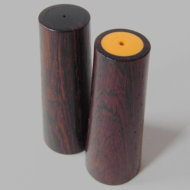 Danish rosewood & melamine salt & pepper shakers
