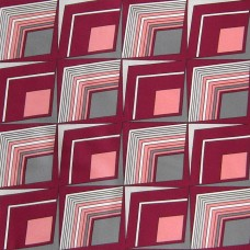 Headscarf with geometric design in claret and grey