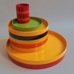 Allbricka vintage melamine trays and dishes made in Sweden