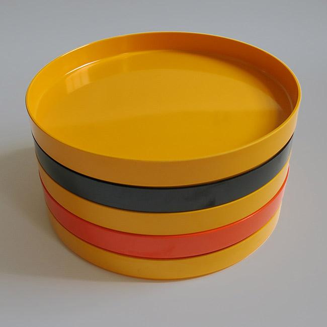 Allbricka vintage melamine trays and dishes made in sweden for Cuisine melamine