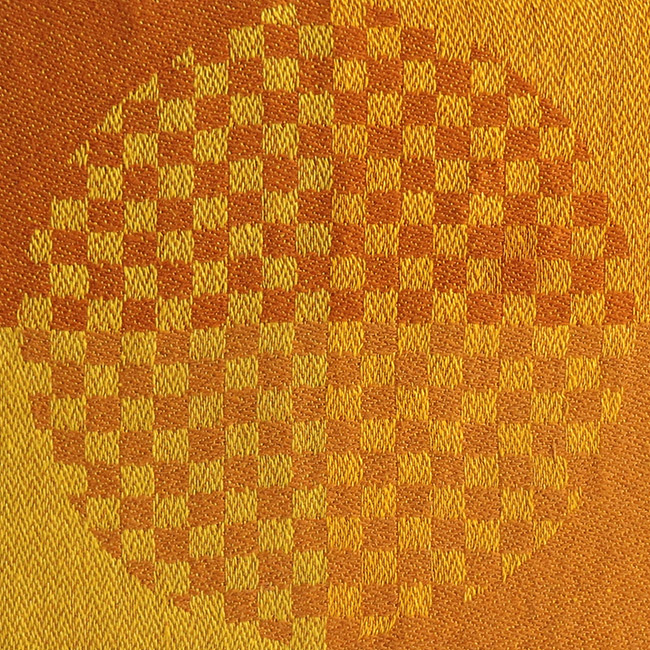 Georg Jensen Damask 1970s op art table place mats orange