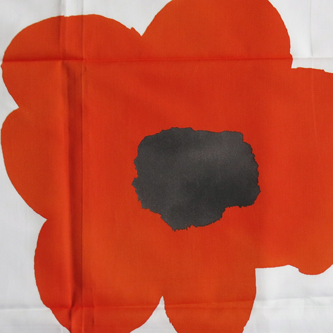 Unused vintage 1970s Danish fabric huge Marrimekko/Warhol style poppies