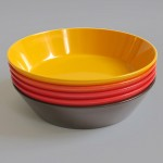 Set of 5 vintage Rosti Mepal Dinnerware melamine dishes