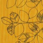Classic 1950s midcentury modern Swedish fabric with leaves design