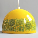 Yellow Kalas Arabia pendant light designed by Kaj Franck for Fog & Mørup