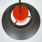 Askepot industrial-style pendant light by Jo Hammerborg for Fog & Mørup, 1970s