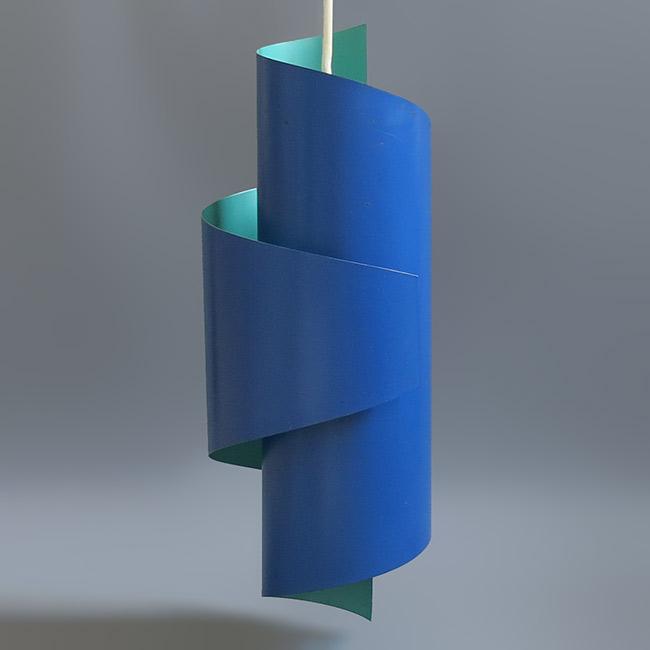 Danish midcentury modern coil pendant light