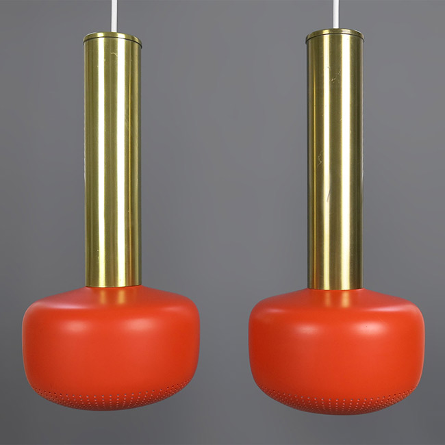 Guldpendel pendant lights by Vilhelm Lauritzen for Louis Poulsen