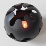 Spherical cast-iron candleholder by C&C Holmgren for Illums Bolighus in 1973