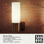 Brass and opal glass wall light designed by Jorgen Bo for Fog & Morup