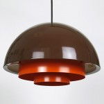 Orange and brown Milieu by Jo Hammerborg for Fog & Mørup