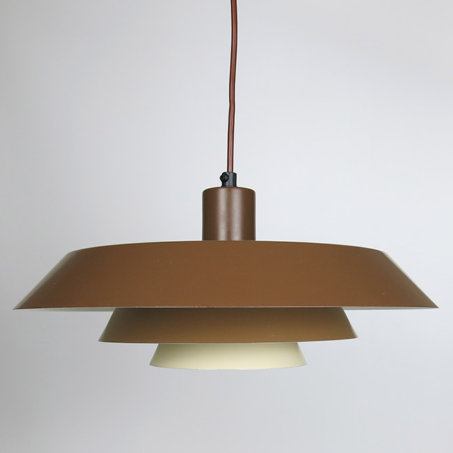 Danish layered art light designed by Bent Karlby for Lyfa, late 1960s