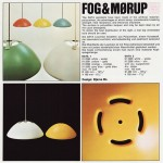 Data pendant light by Bjarne Bo for Fog & Mørup, 1970s orangeFog & Mørup