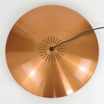 Copper Diskos pendant light by Jo Hammerborg for Fog & Mørup, 1960s
