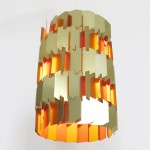 Rare golden Facet pendant light by Louis Weisdorf for Lyfa, late 1960s