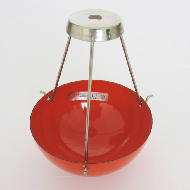 Red Flowerpot undercup and suspension 1960s Verner Panton for Louis PoulsenLouis Poulsen