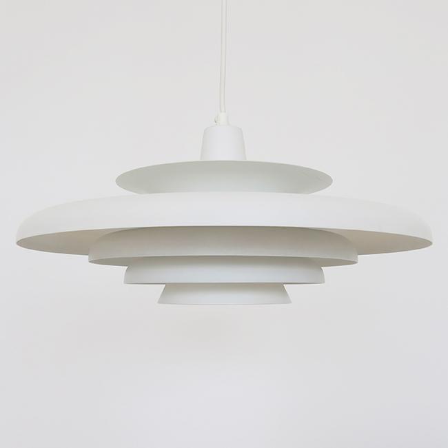 Scandinavian midcentury modern multi-layered pendant light 1960s