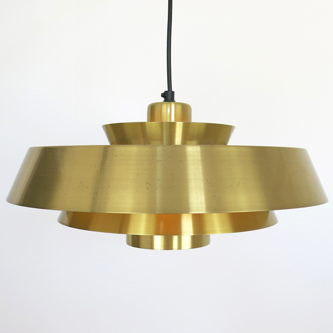 Brass Nova pendant lamp by Jo Hammerborg for Fog & Mørup, 1960s