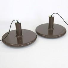 Optima pendant light pair by Hans Due for Fog & Mørup, 1970s