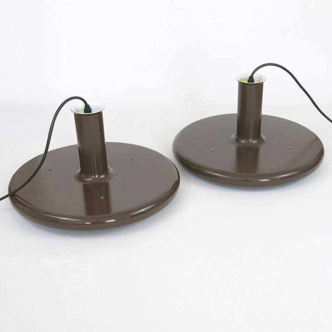 Optima pendant light pair by Hans Due for Fog & Mørup, 1970s