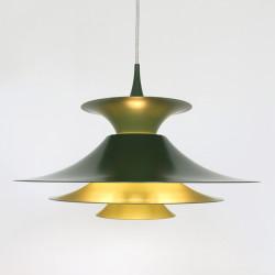 Green Radius pendant light designed by Erik Balslev for Fog & Mørup