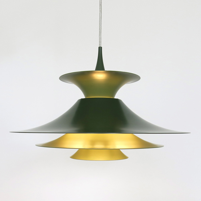 Out Of Stock Green Radius Pendant Light Designed By Erik Balslev For Fog U0026  Mørup