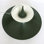 Green Radius pendant light designed by Erik Balslev for Fog & Mørup