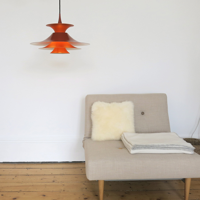 ... Orange Radius Pendant Light Designed By Erik Balslev For Fog U0026 Mørup ...