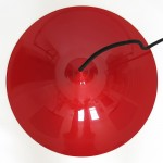 Red Semi pendant light by Bonderup and Thorup for Fog & Mørup, late 1960s