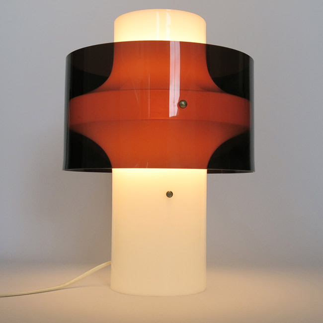 Acrylic/perspex multi-use lamp by Yki Nummi for Orno Finland, 1960s