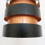 Eifel copper & black pendant light by Jo Hammerborg for Fog & Mørup, early 60s