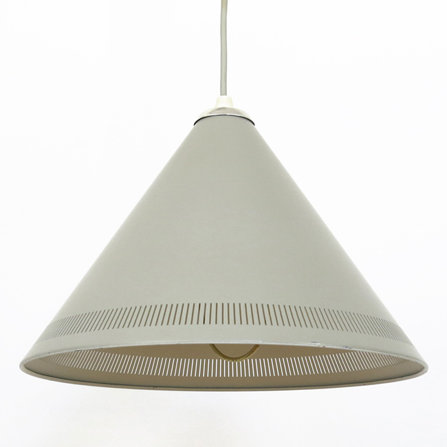 Kegle conical rise-and-fall pendant light produced by Lyfa, 1950s