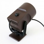 Chocolate brown LilleBror wall lamp/spotlight by Louis Poulsen of Denmark, 1970s