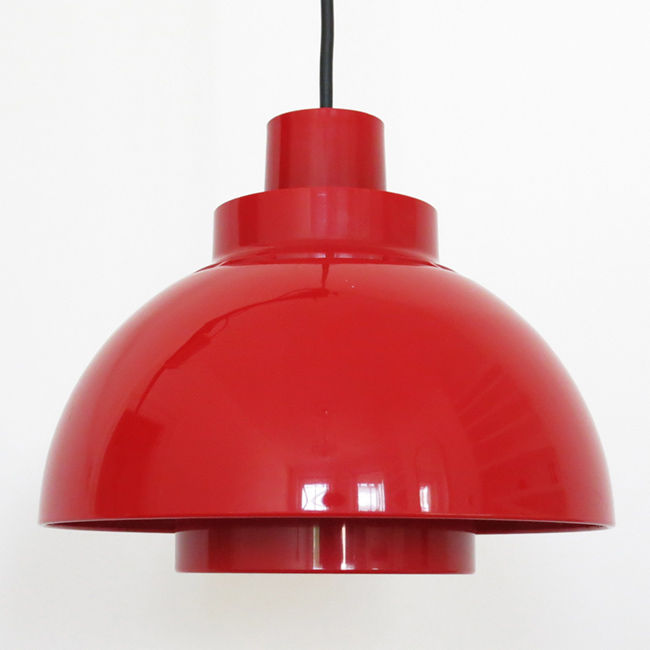 Minisol Danish space-age plastic pendant light from Nordisk Solar Compagni, 1960s