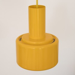 Award-winning Piccolo series yellow pendant lamp by Lyfa of Denmark, 1970s