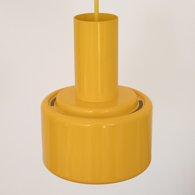 Award-winning Piccolo series yellow pendant lamp by Lyfa of Denmark, 1970sLyfa
