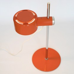 Award-winning Piccolo orange and chrome table lamp by Lyfa of Denmark, 1970s