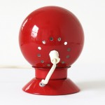 Red Ny-Mag ball desk/table lamp or wall/spotlight by Abo Randers Denmark