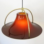 Single pendant light by Jo Hammerborg for Fog & Mørup, 1970s acrylic and brass