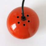 Small orange ES Horn Belysning of Denmark ball pendant spotlight, 1960s/70s