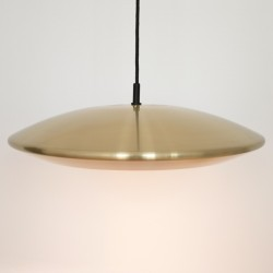Brass Diskos pendant light by Jo Hammerborg for Fog & Mørup, 1960s