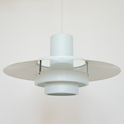 White Falcon pendant light designed by Andreas Hansen for Fog & Mørup, 1960s