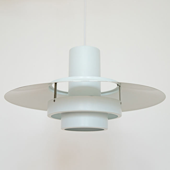 White Falcon pendant light designed by Andreas Hansen for Fog & Mørup, 1960s