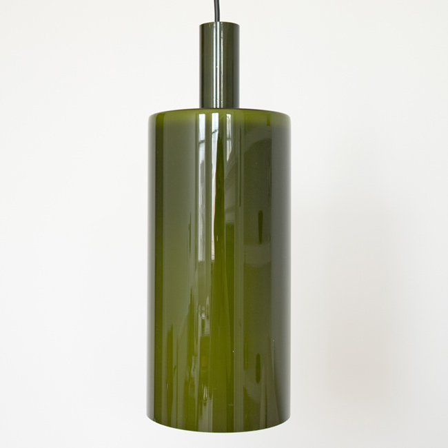 Pisa green cased glass lamp designed by Jo Hammerborg for Fog & Mørup, 1960s